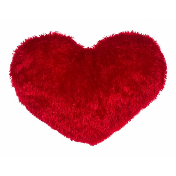 Heart Throw Pillow by 14 Karat Home Inc.