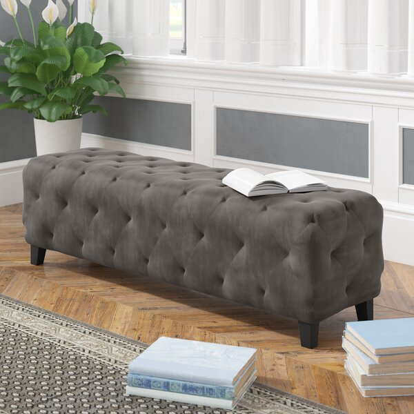 Israel Upholstered Bench by Alcott Hill