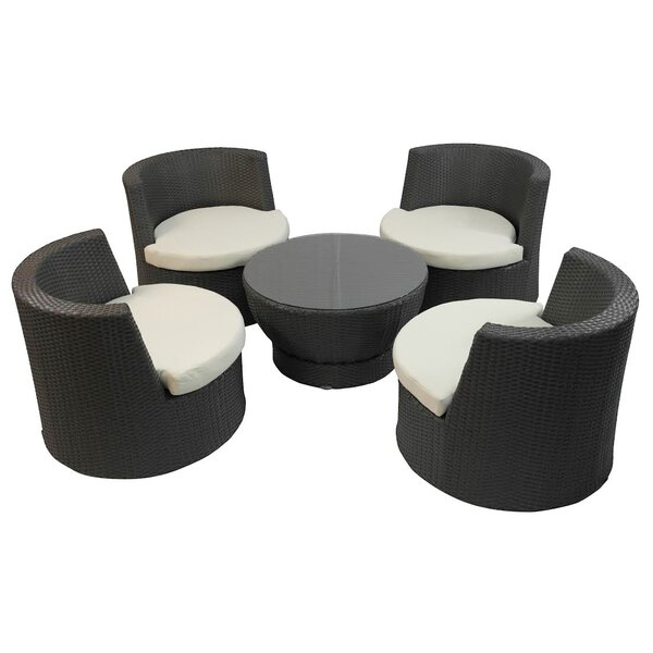 Tower 5 Piece Sunbrella Seating Group with Cushions by Feruci