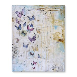 'Butterfly Dance' Graphic Art Print on Canvas by Latitude Run