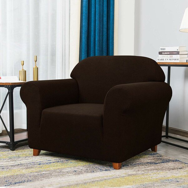 Howkwa Box Cushion Armchair Slipcover By Winston Porter