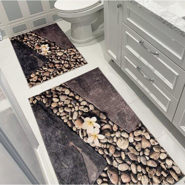Duda Printed Design Vibrant and Soft 2 Piece Bath Rug