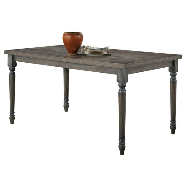Rectanular Dining Table In Weathered Gray by Gracie Oaks Gracie Oaks
