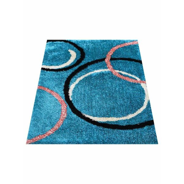 Predmore Hand-Tufted Blue Area Rug by Latitude Run