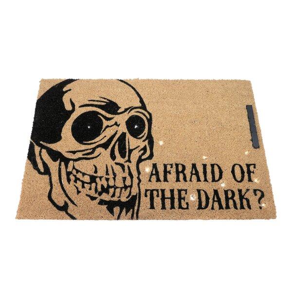 Skeleton Afraid of the Dark Lighted Doormat by Floor 9