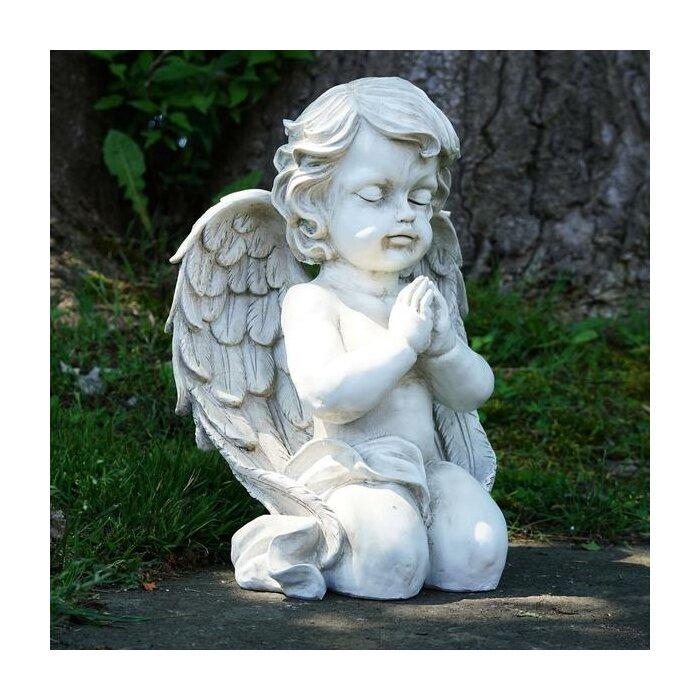 Cherub Kneeling Praying Angel Religious Outdoor Garden Statue