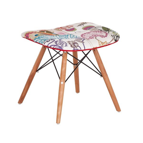 Bergenfield Accent Stool by Bungalow Rose