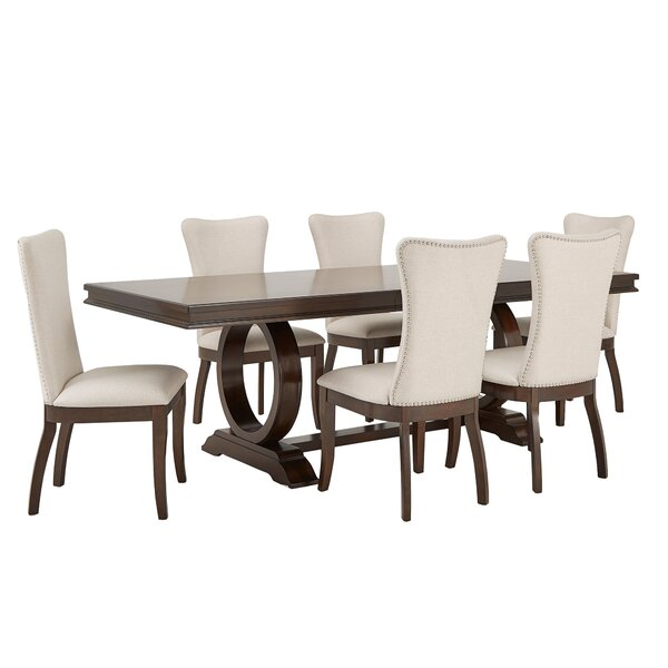 Jericho 7 Piece Extendable Dining Set by Gracie Oaks