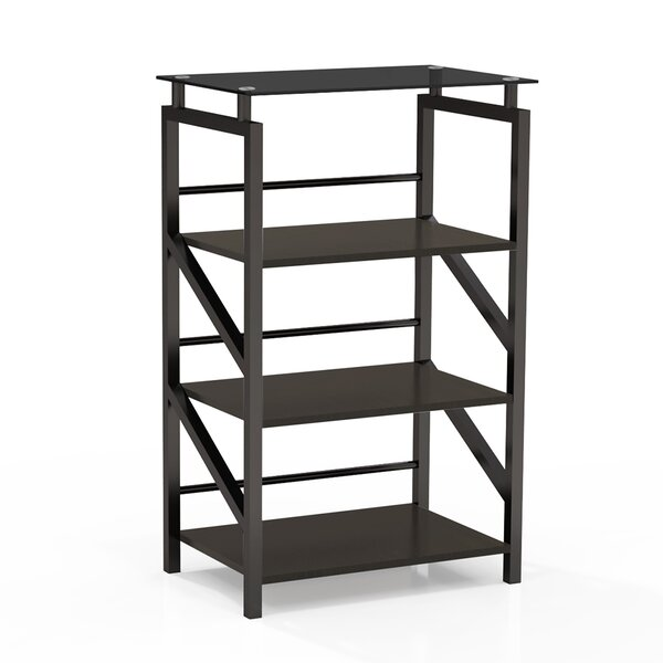 Review Aesir Glass Etagere Bookcase