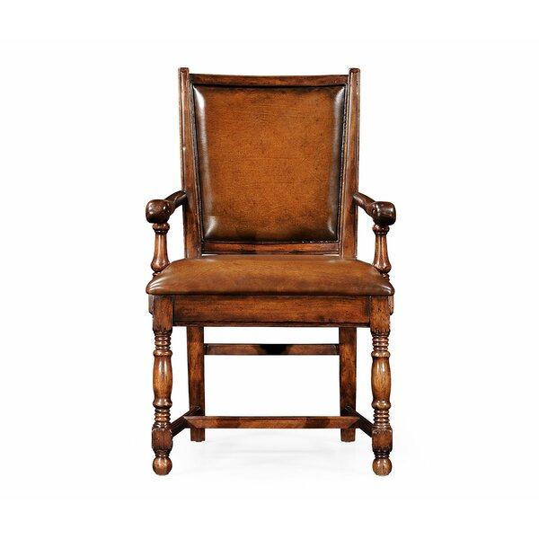 Genuine Leather Upholstered Dining Chair (Set of 2) by Jonathan Charles Fine Furniture