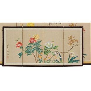 Salzman Butterflies 4 Panel Room Divider by Bloomsbury Market