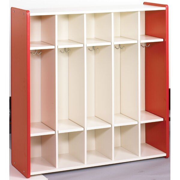 1000 Series 3 Tier 5 Wide Coat Locker by TotMate