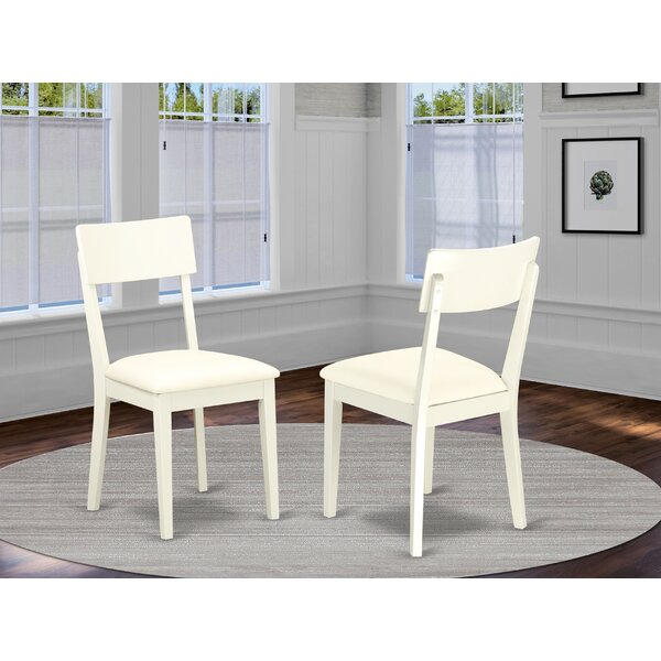 Ferrante Solid Wood Upholstered Dining Chair (Set of 2) by Ebern Designs Ebern Designs