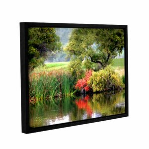 Santee Lakes by George Zucconi Framed Photographic Print on Wrapped Canvas by ArtWall