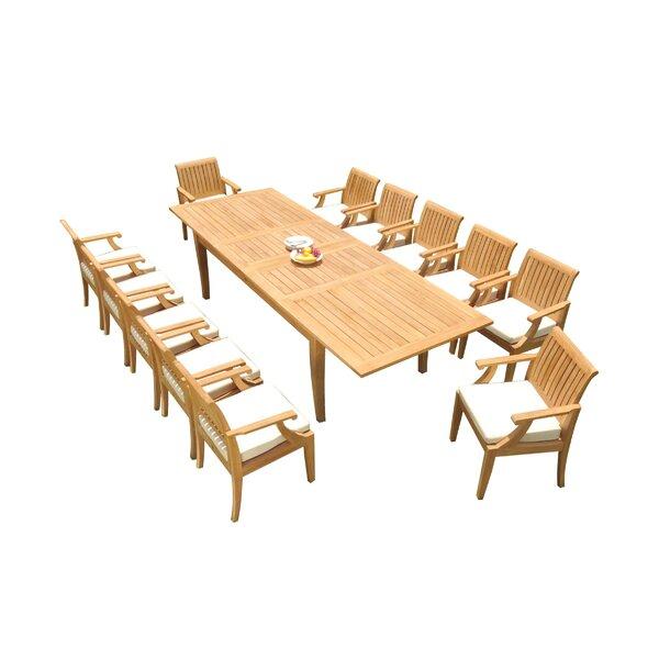 Darin 13 Piece Teak Dining Set