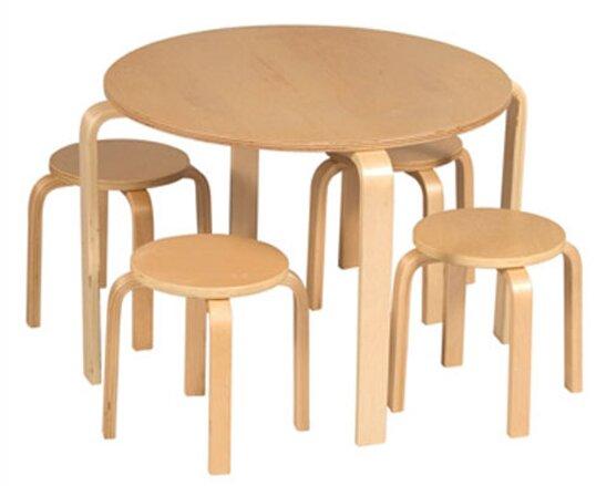 Viv + Rae Anrey Kids\' 5 Piece Round Table and Stool Set & Reviews ...