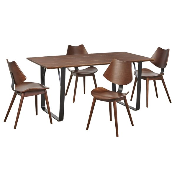 Fruithurst 5 Piece Solid Wood Dining Set by George Oliver