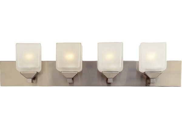 Contemporary 4-Light Bath Bar by TransGlobe Lighting