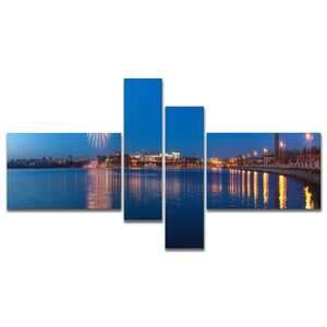 'Embankment of City Panorama' Photographic Print Multi-Piece Image on Canvas by East Urban Home