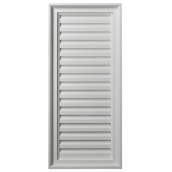 30H x 16W Vertical Gable Vent Louver by Ekena Millwork