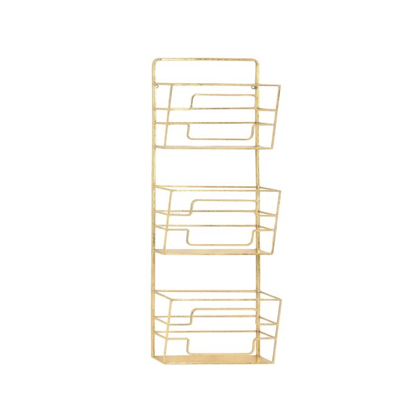Whitacre Modern 3-Tier Wall Mounted Magazine Rack by Willa Arlo Interiors