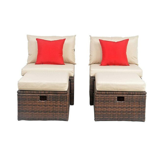 Buchholtz Patio Chair with Cushions by Red Barrel Studio