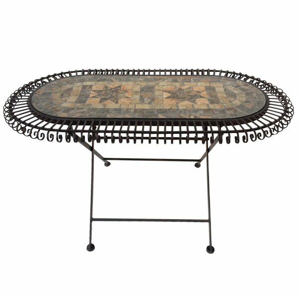 Burroway Mosaic Bistro Table by August Grove