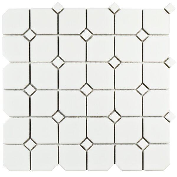 Retro Broadway 11.75 x 11.75 Porcelain Mosaic Tile in Matte White by EliteTile