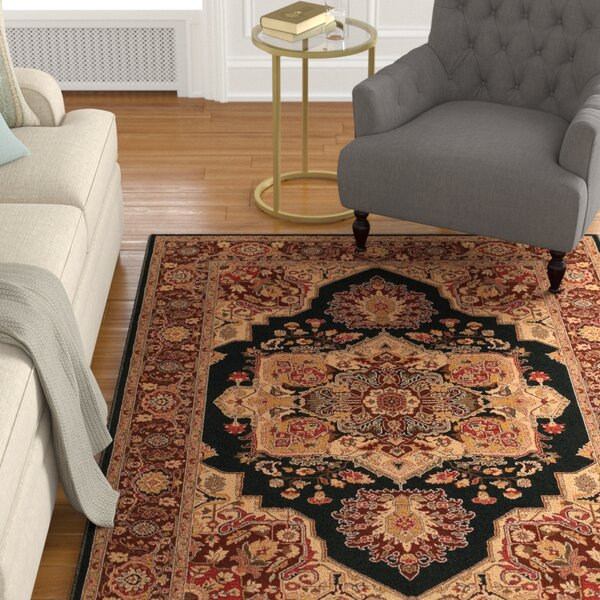 Cipriani Red/Beige Area Rug by Astoria Grand
