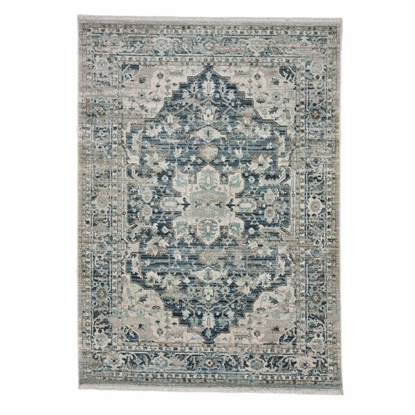 Briallen Oriental Blue/Gray Indoor / Outdoor Area Rug