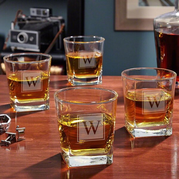 Personalized Rutherford 10 oz. Whiskey Glass (Set of 4) by Home Wet Bar