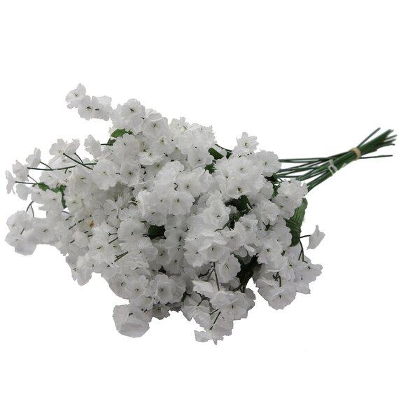 Artificial Full Blooming Baby Breath Flowers Spray Floral Arrangement by Laurel Foundry Modern Farmhouse