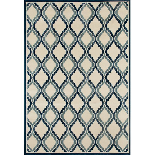 Highland Beige/Teal Area Rug by Charlton Home