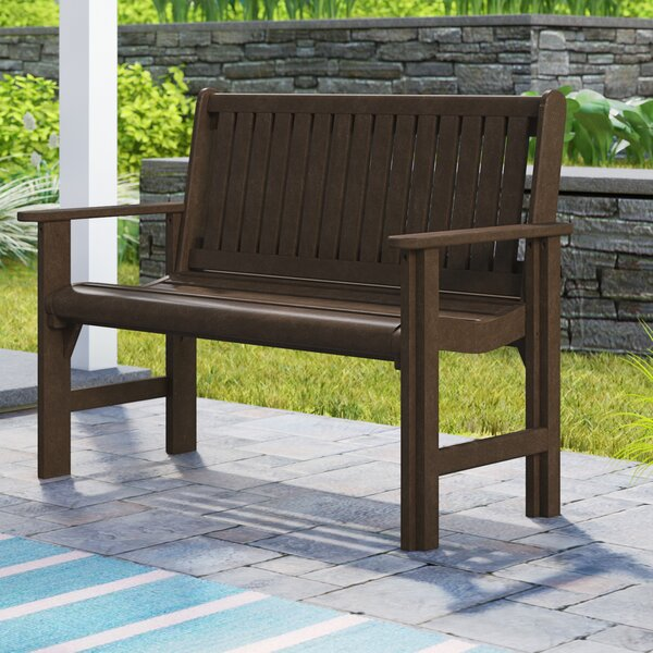 Alanna Plastic Garden Bench by Beachcrest Home Beachcrest Home