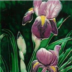 Iris Tile Wall Decor by Continental Art Center