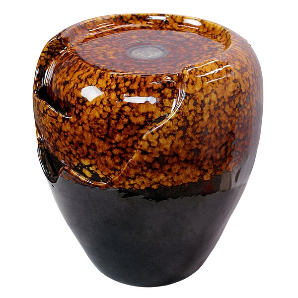Ceramic Burnt Umbra Jar Garden Urn Fountain by Wildon Home ®