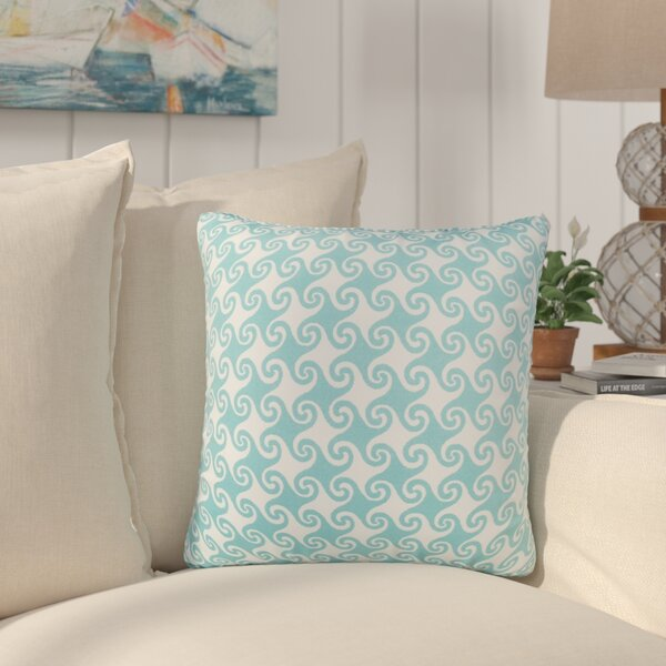 Estelle Waves Indoor/Outdoor Throw Pillow (Set of 2) by Bayou Breeze