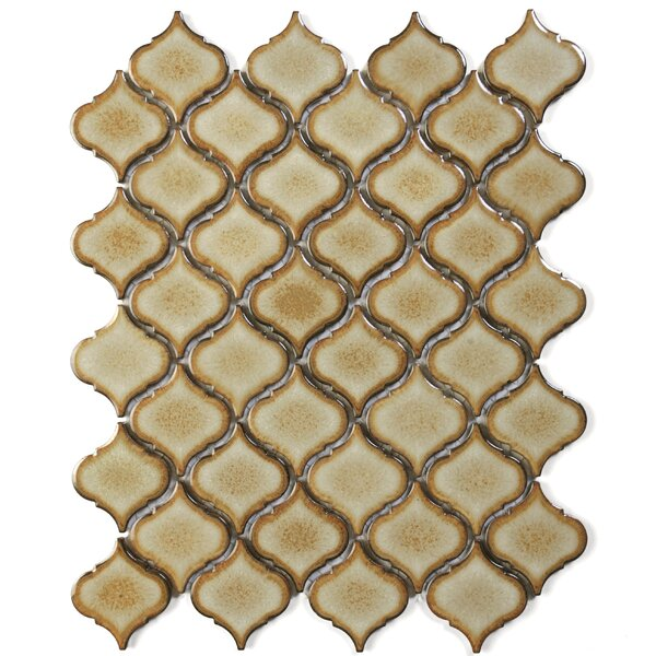 Tessen 2.2 x 2.5 Porcelain Mosaic Tile in Toast Brown by Solistone