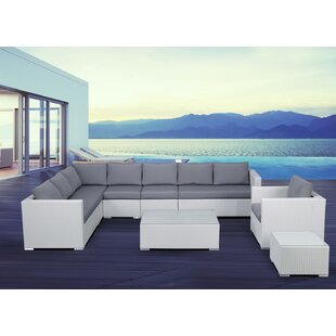 Grijalva 7 Piece Rattan Sectional Set with Cushions By Brayden Studio