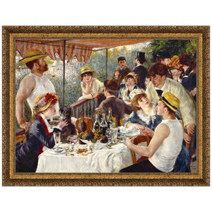 Luncheon of the Boating Party, 1881 by Pierre-Auguste Renoir Framed Painting Print by Design Toscano