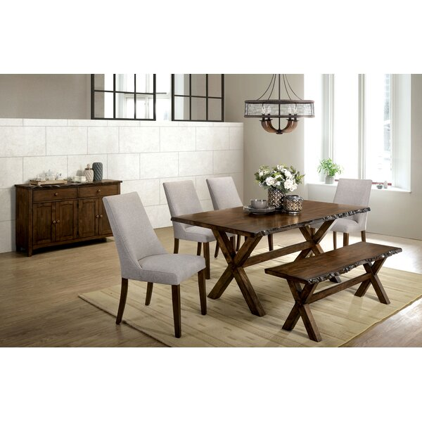 Rawson 6 Piece Solid Wood Dining Set by Gracie Oaks