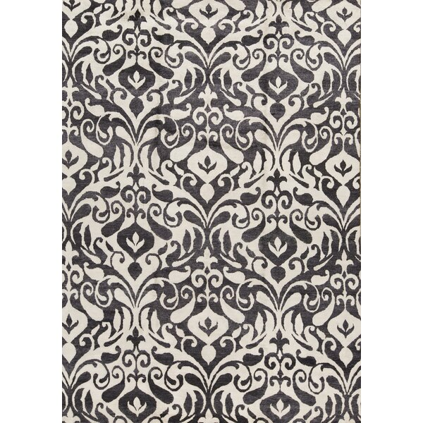 Hand-Knotted Gray/Black Area Rug