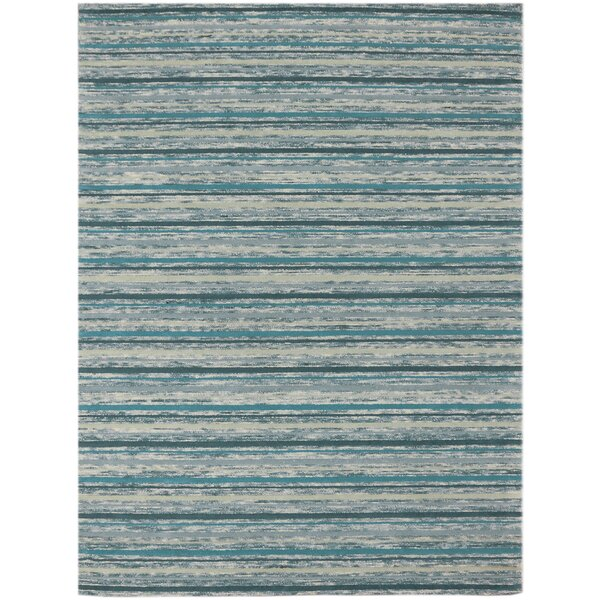 Brookes Hand-Tufted Teal Area Rug by Highland Dunes