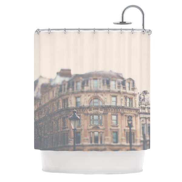 London Town by Laura Evans Shower Curtain by East Urban Home