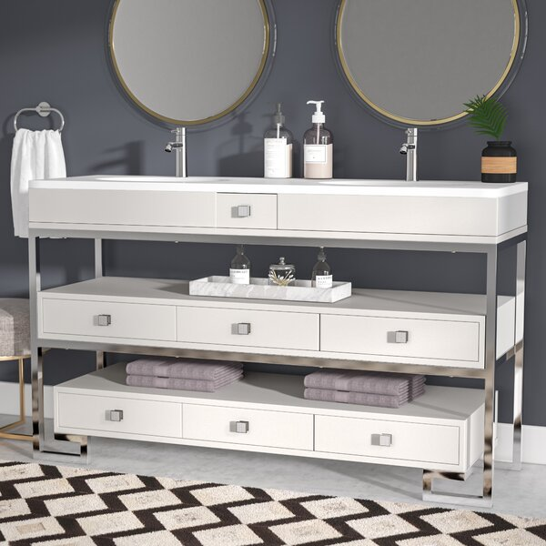 Ignacio 59 Double Bathroom Vanity Set by Everly Quinn