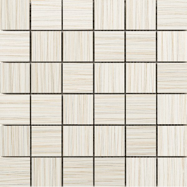 Thread 2 x 2 Porcelain Mosaic Tile in Ivory by Emser Tile