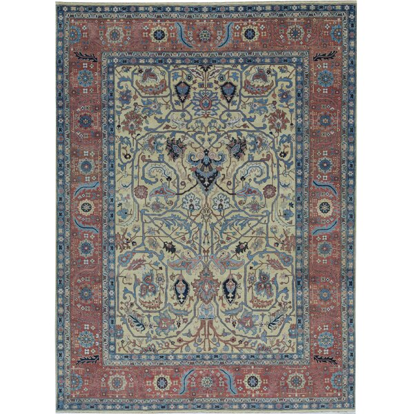 Oriental Hand-Knotted Wool Gold/Rust Area Rug