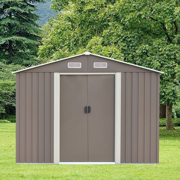 8 Ft. 5 In. W X 6 Ft. 8 In. D Metal Storage Shed By Ainfox