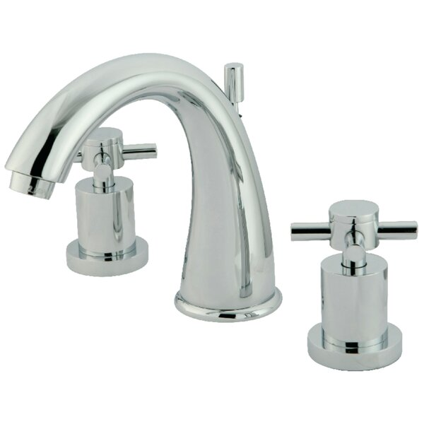 South Beach Double Cross Handle Widespread Bathroom Faucet By Elements Of Design