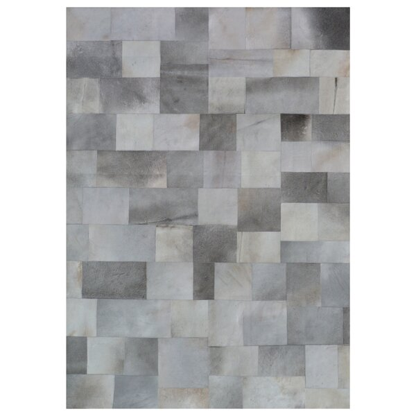 Natural Hide Hand Woven Cowhide Gray Area Rug by Exquisite Rugs
